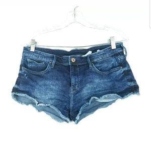 HM Womens Size 10 Shorts Acid Wash Distressed